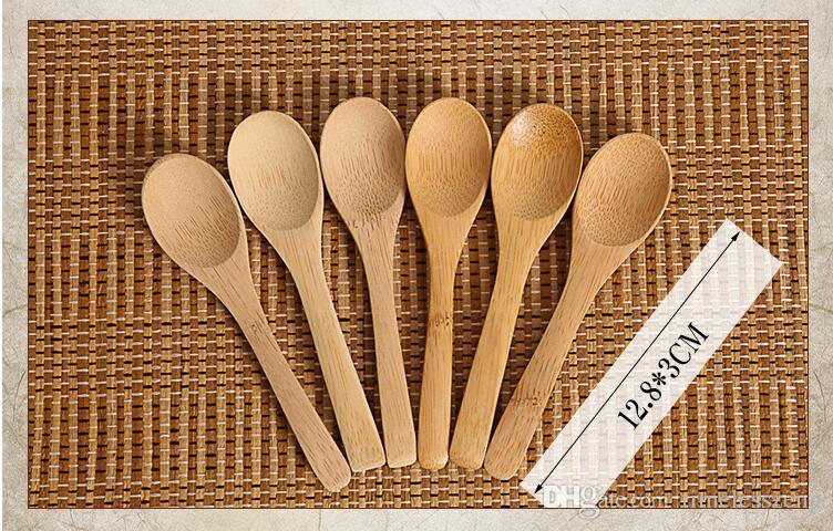 Çeşni Küçük 12.8 * 3cm kullanma Ahşap Jam Kaşık Bebek Bal Kaşık Çay Kaşığı Yeni Narin Mutfak