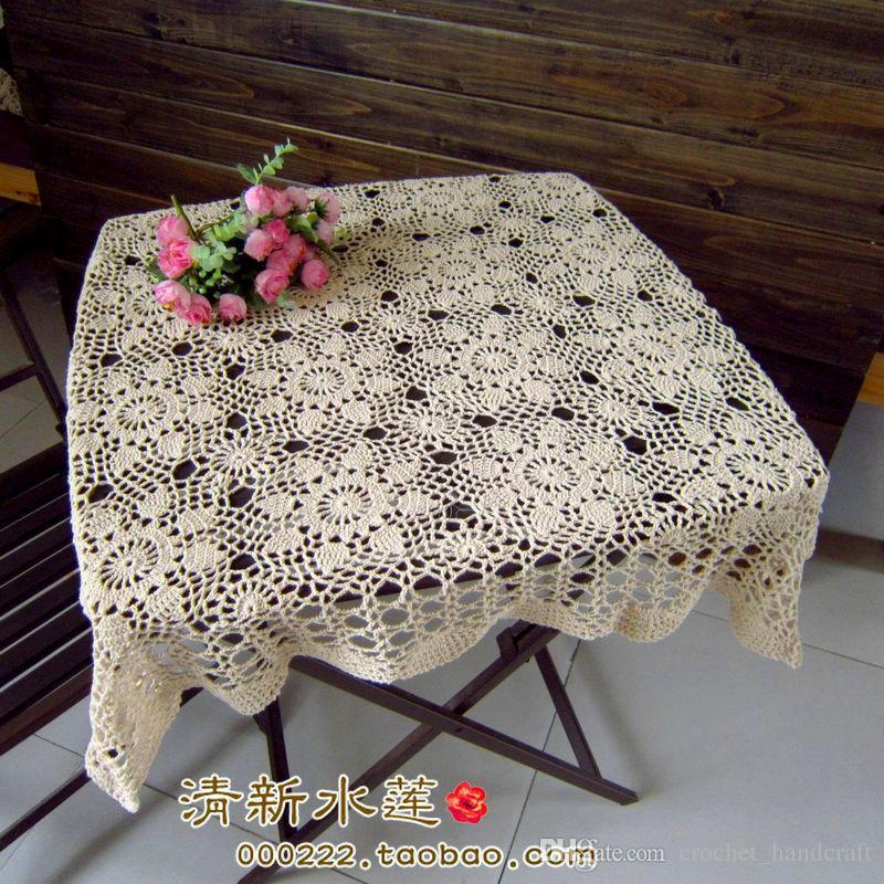 Nouvelle arrivée meilleure vente coton crochet dentelle nappe avec fleur pour la décoration de la maison comme couverture de table vintage à vendre