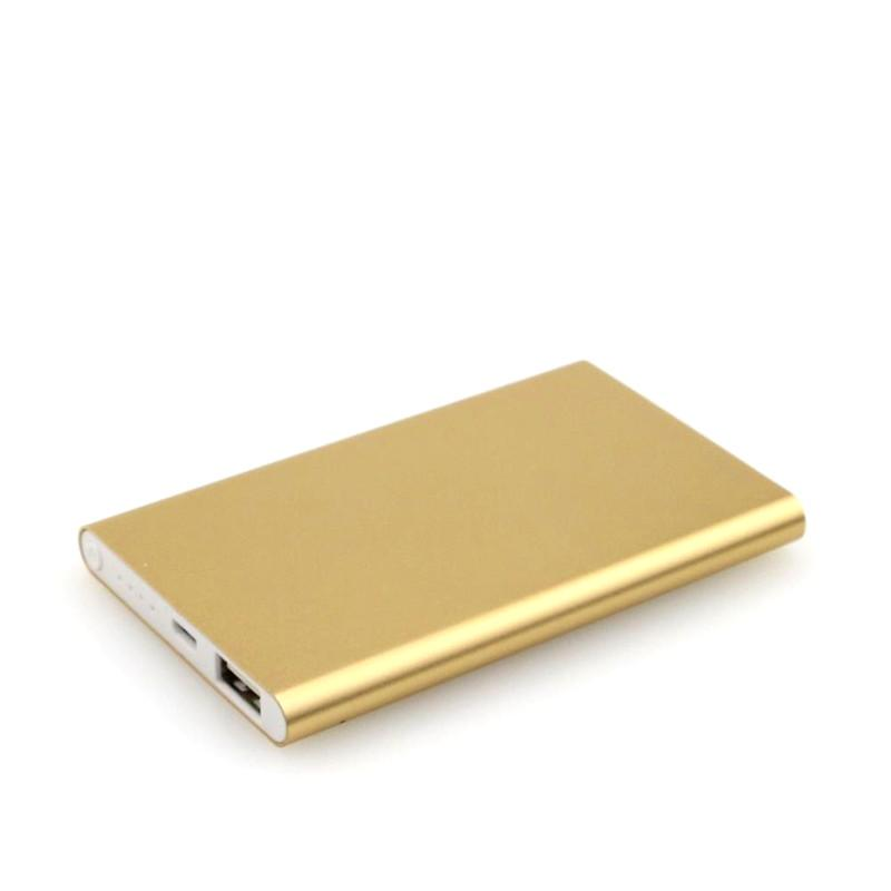 2017 Ultra thin slim Power Bank 4000mAh Charger Powerbank External Battery Cell Phone Power Banks With Retail Package For Smart Phones