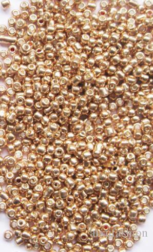Gold Silber Farbe 2mm 200 teile / los Kristall Glas Spacer Perlen Tschechische Samenperlen für 3mm 4mm Schmuck Handgemachte DIY Materiale Befindet sich Lose Perlen