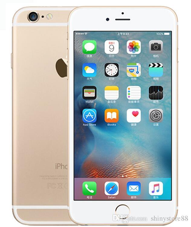 09d6a3cc6 Compre Remodelado Original Da Apple IPhone 6 S Plus Sem Toque ID Original  Tela De 5.5 Polegada 16 GB   64 GB   Dual Core IOS 11 Telefone Desbloqueado  De ...