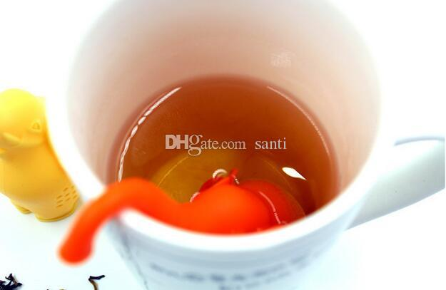 Essen Bar Teekanne Cute Elephant Silikon Tee Infuser Filter Teekanne für Tee Kaffee Drinkware