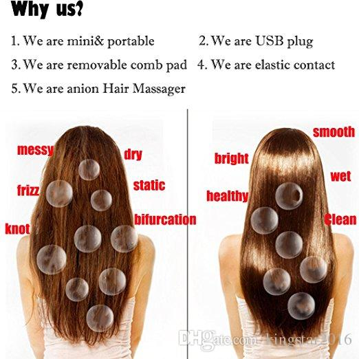 New Arrival Professional Detachable Ionic Vibrating Massage Travel Vibrate Electric Battery Hair Brush