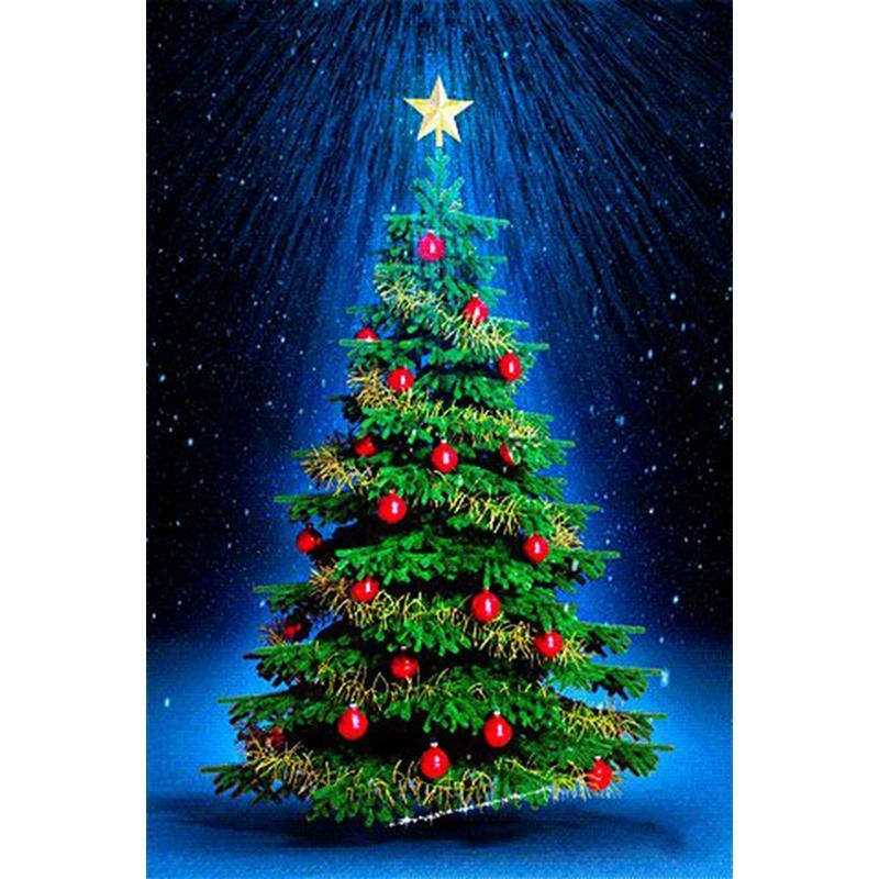 Großhandel Weihnachtsbaum Geschenk Diy 100% Vollbohrer Diamant ...