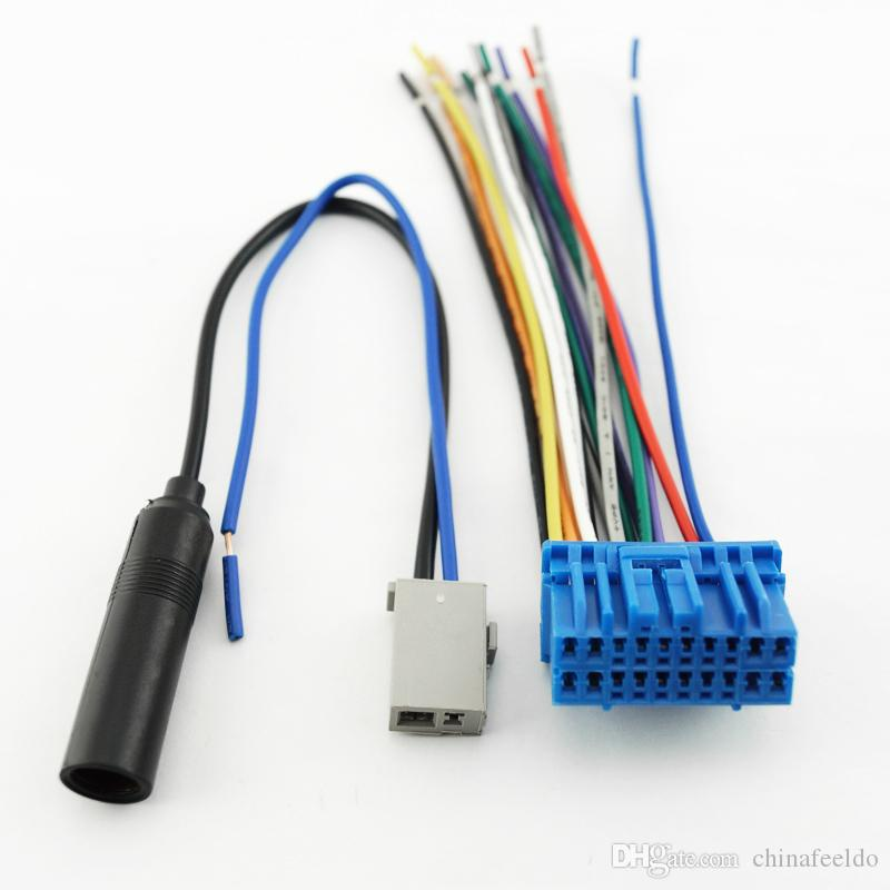 car audio stereo wiring harness with radio anatenn jack for honda/acura/accord/civic/crv  factory oem radio cd #3092 cheap car performance parts cheap car