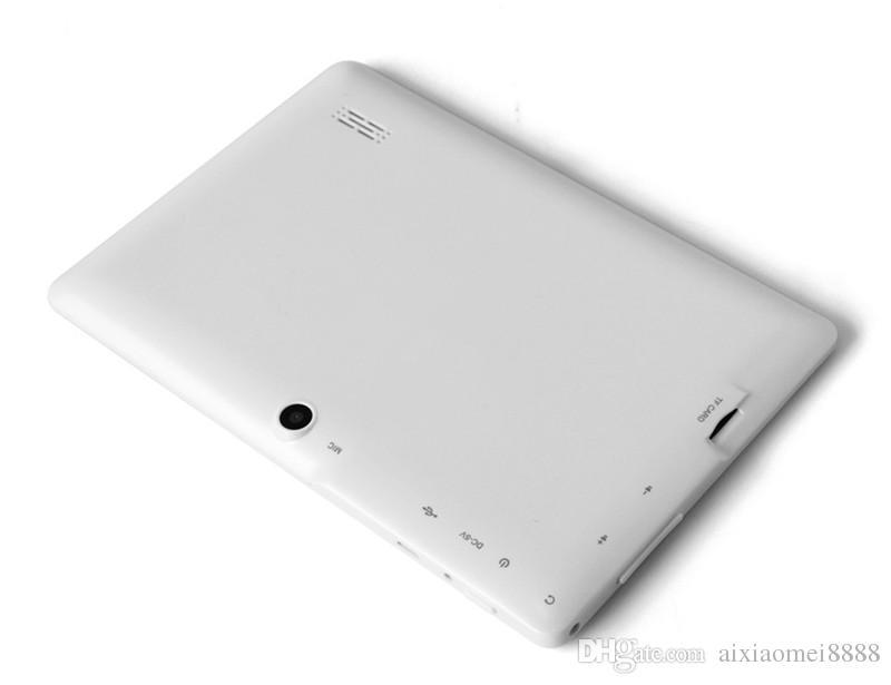 10X economici 2017 tablet wifi 7 pollici 512 MB di RAM 8 GB ROM Allwinner A33 Quad Core Android 4.4 Tablet capacitivo PC Dual Camera facebook Q88 A-7PB