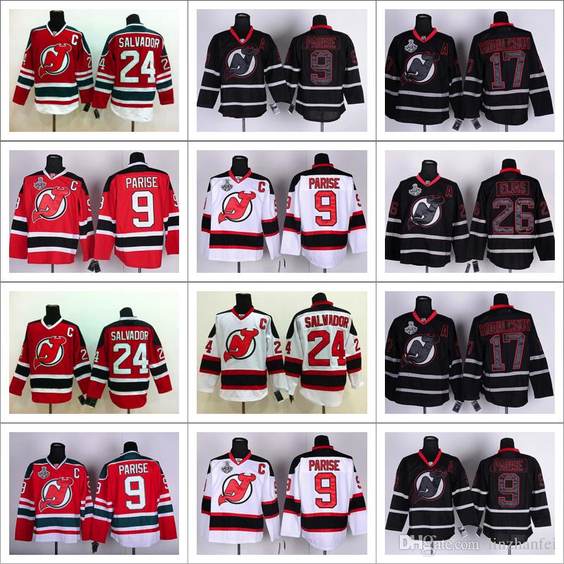 ... 2017 2017 New Jersey Devils Hockey Jersey 14 Adam Henrique 26 Patrik  Elias 4 Scott Stevens Adam Henrique Mens ... 6146e2d94