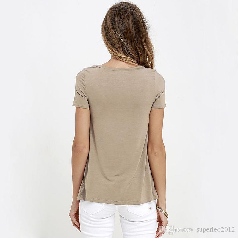 Nuove donne sexy scava fuori camicetta di pizzo camicetta manica corta casual estate delle donne coulisse top blusas camisetas mujer yg