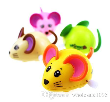 New Hot Colorful Mouse Rat Wind Up Toys Clockwork Toy Baby Kid Running Spring Toy Children Newborn Baby Mini Pet Animal YH1000