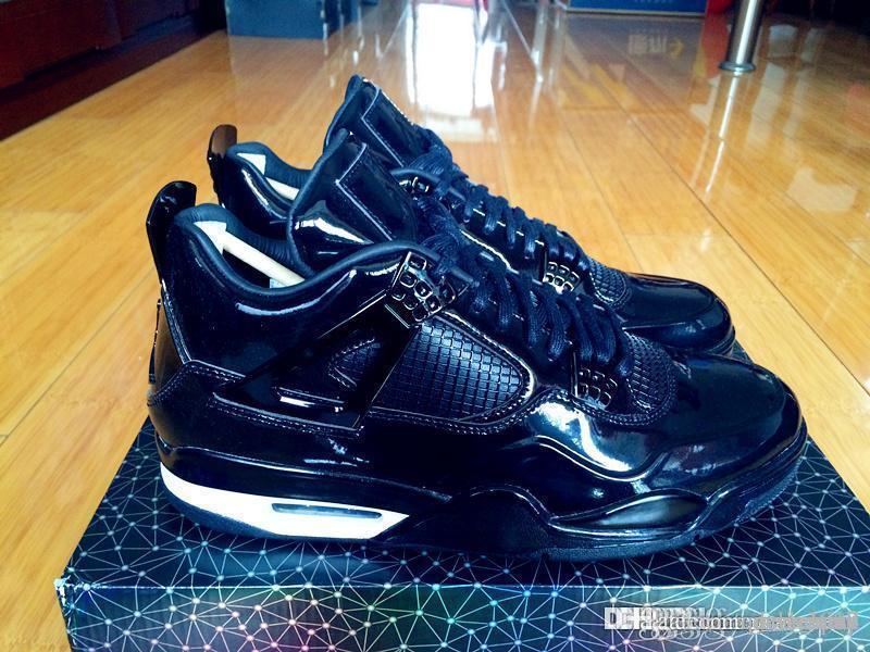 Online Cheap Top Quality Air Aa Jordan 11lab4 Retro 4 Black Patent Leather  719864 010 Jordans 4s Retros11lab4 With Original Box By Deliverme | Dhgate .Com