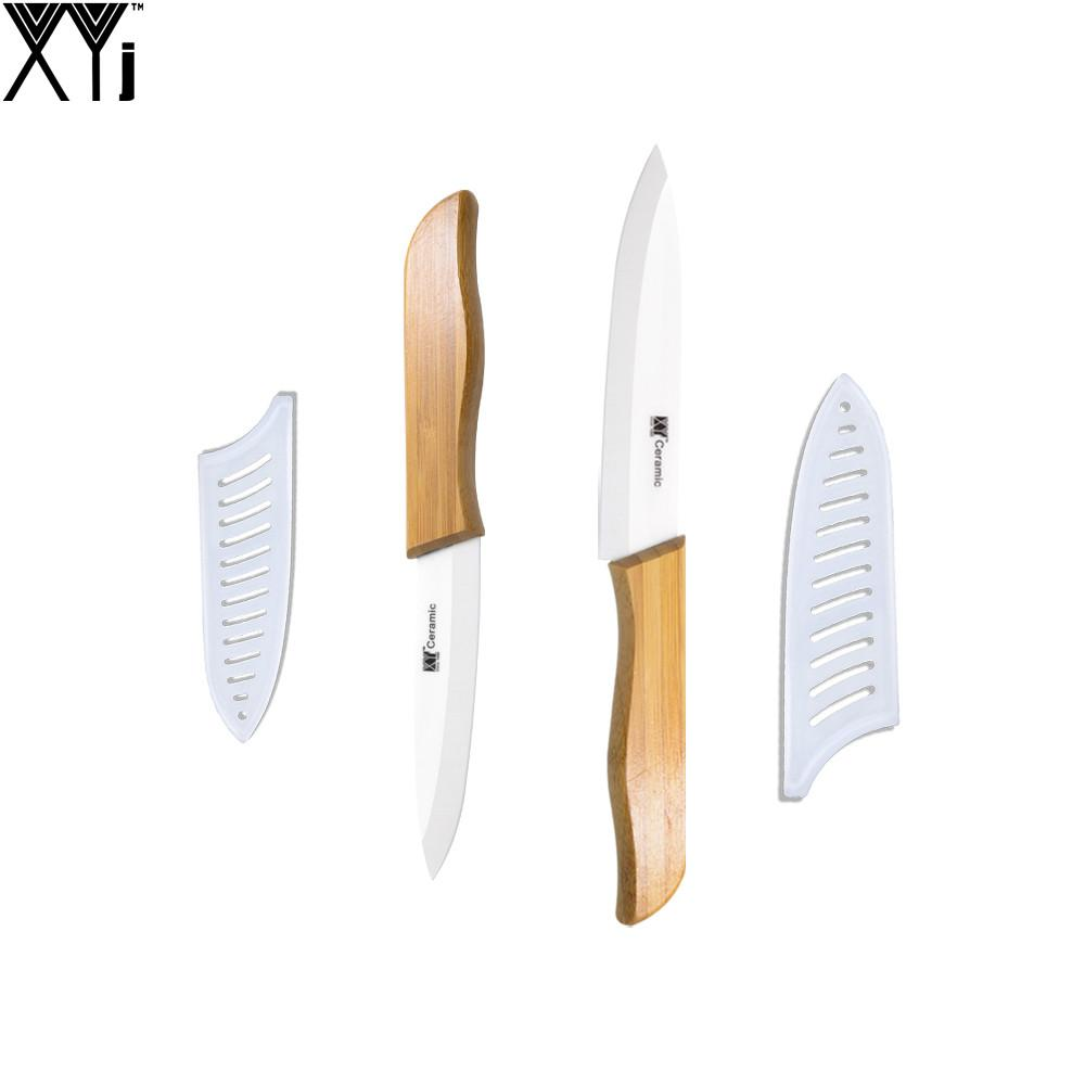 ceramic knife set bamboo handle white blade home utility slicing kitchen knives xyj brand high grade cooking knife set forged kitchen knives german kitchen - German Kitchen Knives