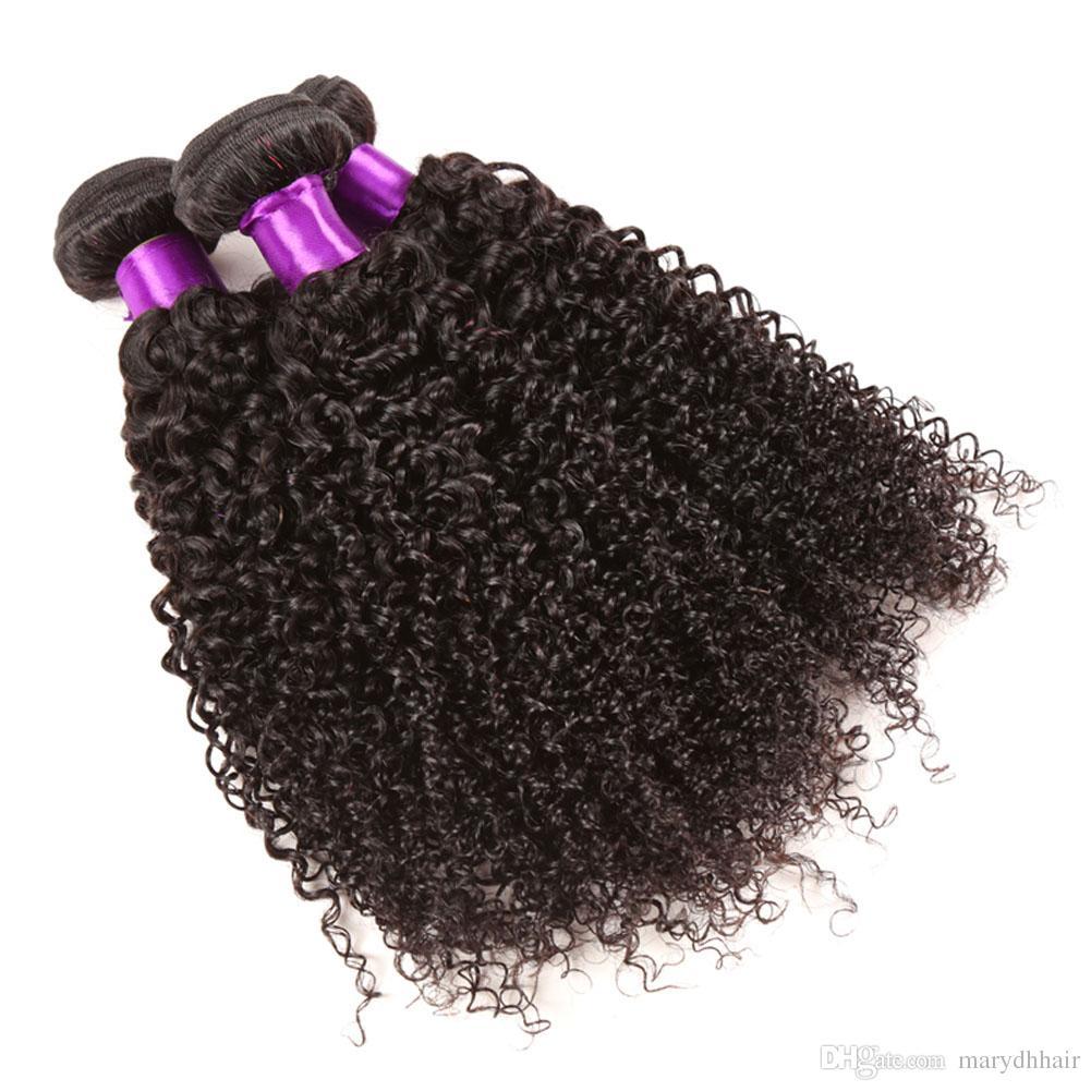 /8-28inch 8A Brazilian Curly Virgin Hair Human Hair Weave Bundles Best Unprocessed Virgin Brazilian Kinky Curly Hair Extensions