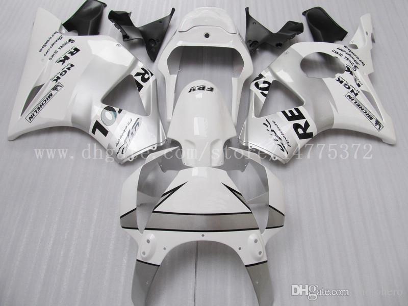 White REPSOL fairings fit for HONDA CBR900RR 954 2002-2003 CBR900RR 02-03 CBR900 RR 2002-2003 954 fairing kits #D8K49