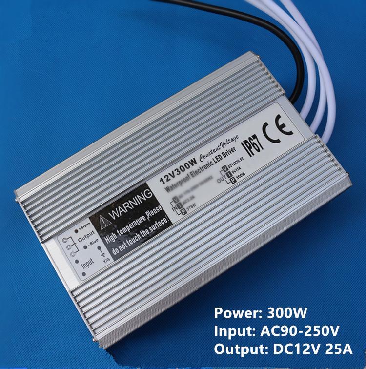 Haute qualité DC 12V 5A 60W a mené le transformateur 20-300w d'alimentation d'énergie mené l'adaptateur de conducteur 90V-250V imperméabilisent la tension constante de transformateurs