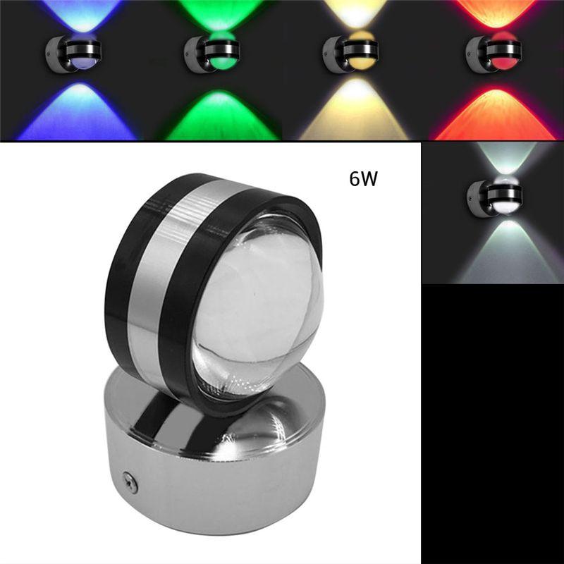 2019 6w Led Wall Light Wall Mounted Crystal Convex Lens Ac 85 265v Single Double Side Bathroom