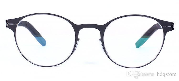 작은 얼굴 프레임, 안경 프레임, 좋은 안경, 라운드 라운드, 복고풍, 전체 프레임, 편안한 성격, IC, 베를린, 나사 없음