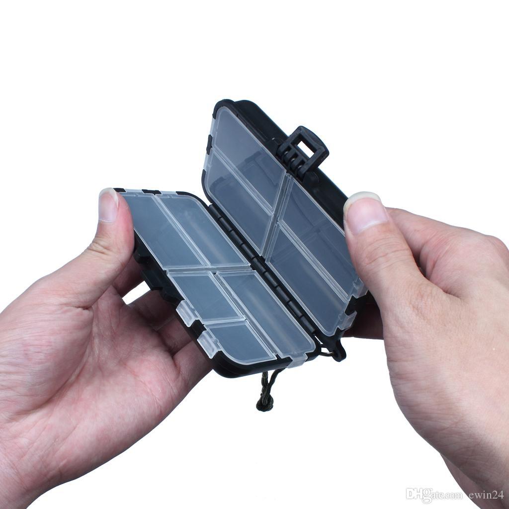 Kunststoff Schaum Fly Fishing Tackle Lure Köder Haken Aufbewahrungskoffer Box Wasserdichte Fisch Zubehör 9 Fach Lagerung Haken Fisch Werkzeug