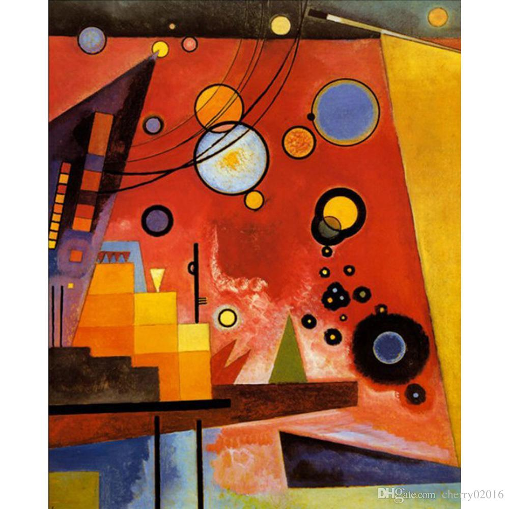 2019 handmade oil painting wassily kandinsky heavy red modern art abstract pictures for living. Black Bedroom Furniture Sets. Home Design Ideas