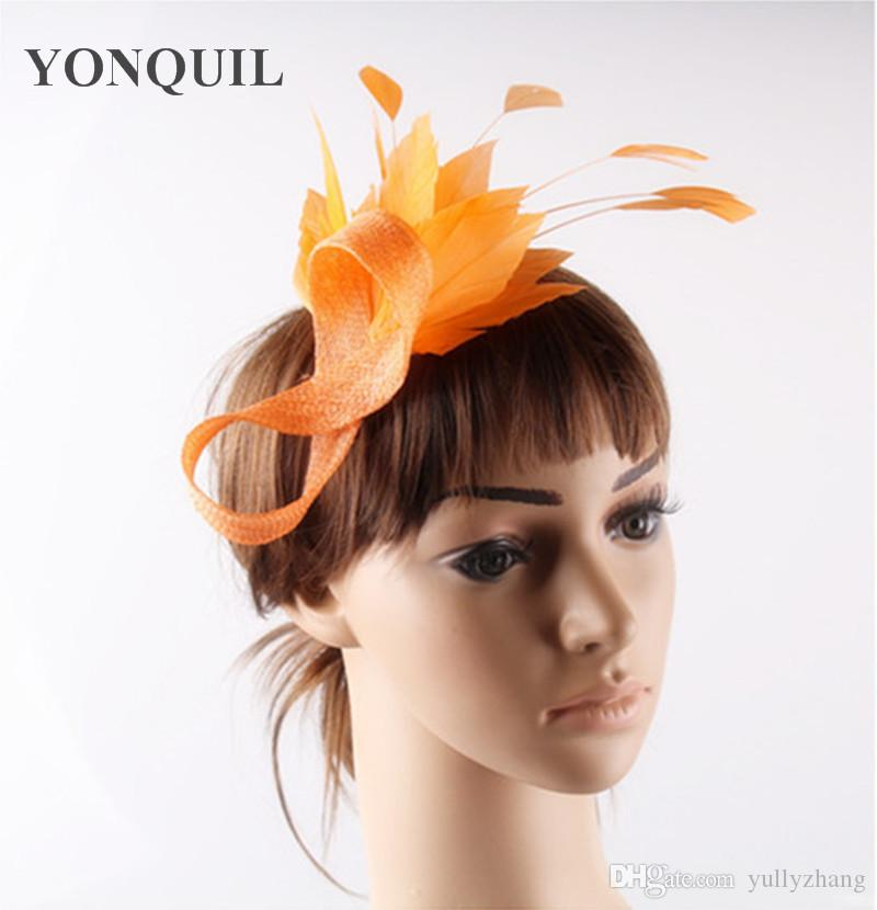 Attractive available sinamay material fascinator headpiece church hair accessories cocktail millynery FNR151259