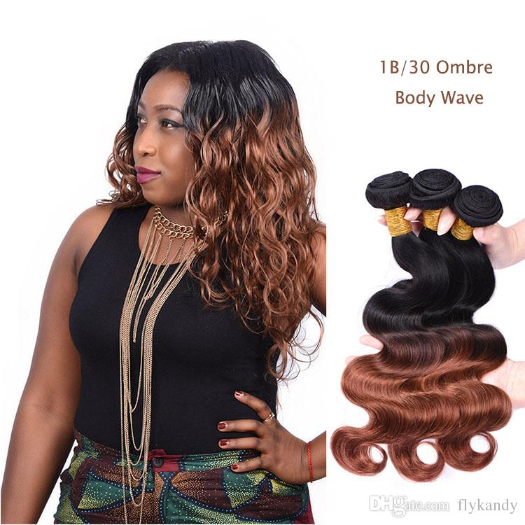 8a Ombre Hair Body Wave Sew In Weavesdip Dyed Two Tone Ombre