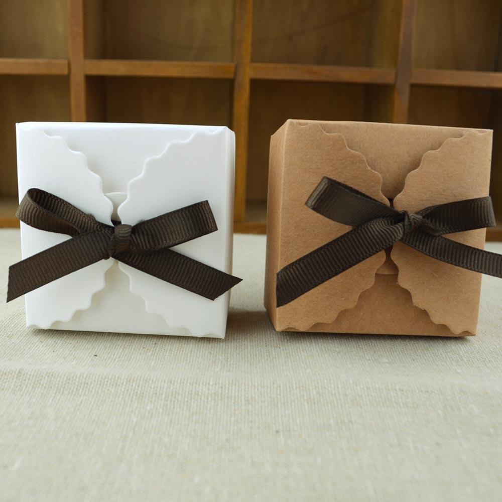 Baby Gift Box Empty : Diy vintage european style kraft paper wedding favor boxes