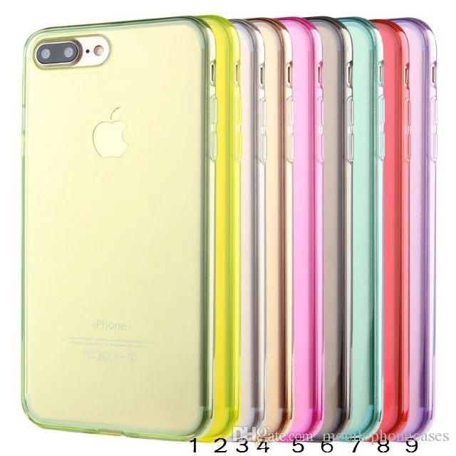 For iphone 7 7plus iphone 6s Plus Case Crystal Transparent soft TPU Gel Case For iphone 5s SE 4S