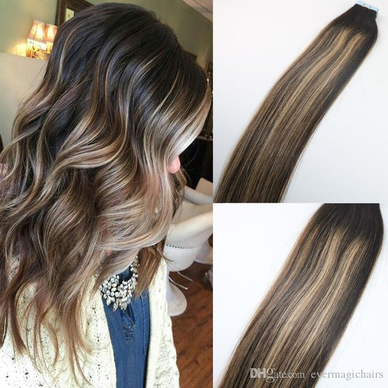 Strawberry blonde highlights hair extensions cute hairstyle brunette balayage dark brown to strawberry blonde highlight tape pmusecretfo Image collections