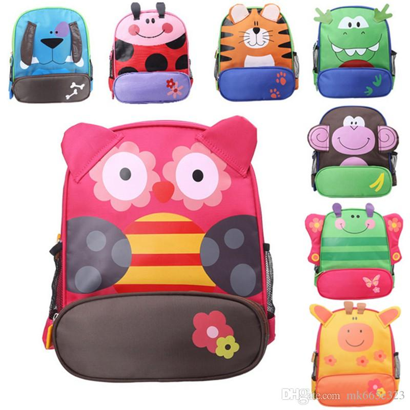 Kids Cartoon Animal Shoulder Bags Boys Girls Cute Fashion Backpacks  Schoolbags Children Baby Toddler Canvas Handbag Tote Bags For Students  Frame Backpacks ... 81297458b6fc0