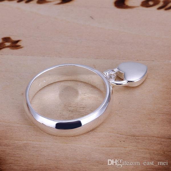 libera fermo di trasporto Hanging placcato in argento sterling donne anulare in forma, nozze 925 piatto d'argento anelli Solitaire Anello ER133