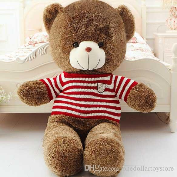 Small Cute Teddy Bears Stuffed Animals Soft Plush Toys Brown Hold Bears Baby Gift Girls Toys Wedding And Birthday Party Decoration KF