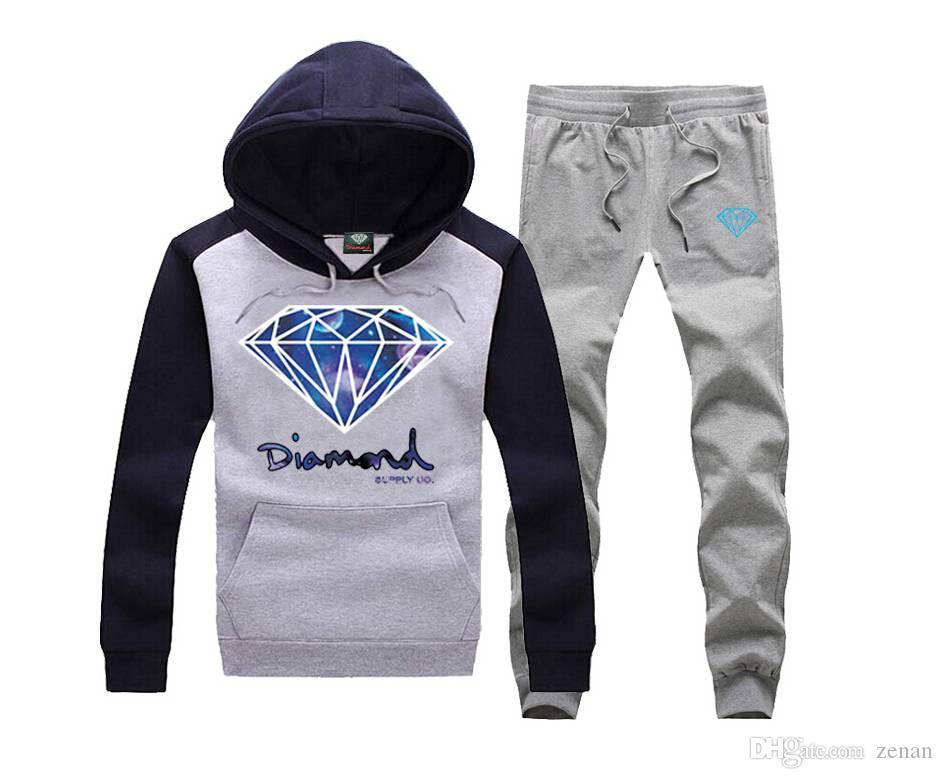 Diamond Supply Co Jumpers Hombres Hip Hop Sudaderas Sudaderas Hombre Hombre Sudadera con capucha Skateboard Pullover Moleton Masculino