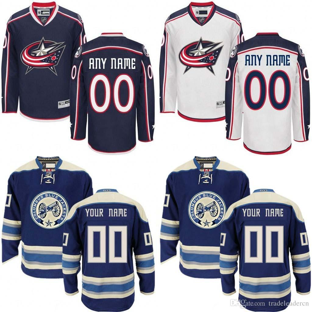 online store ccbb5 226f7 Customized Men's Columbus Blue Jackets Custom Any Name Any Number Ice  Hockey Jersey,Authentic Jersey Stitched Accept Mix Ord size S-3XL