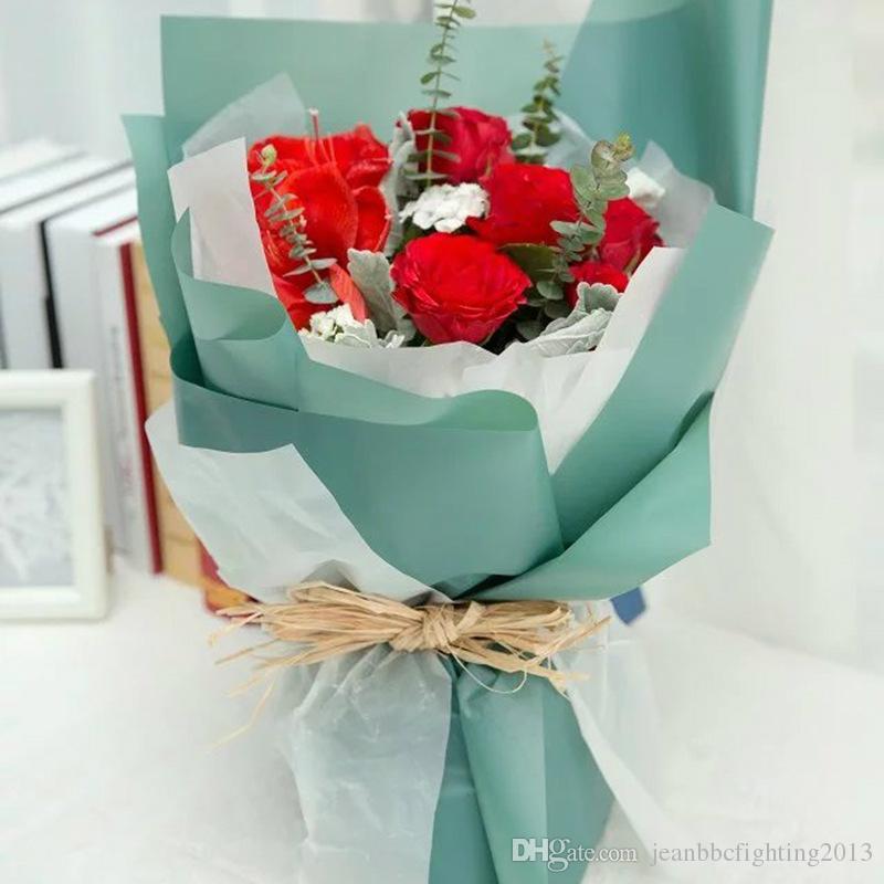 Korean Flowers Waterproof Paper Packaging Gift Wrapping