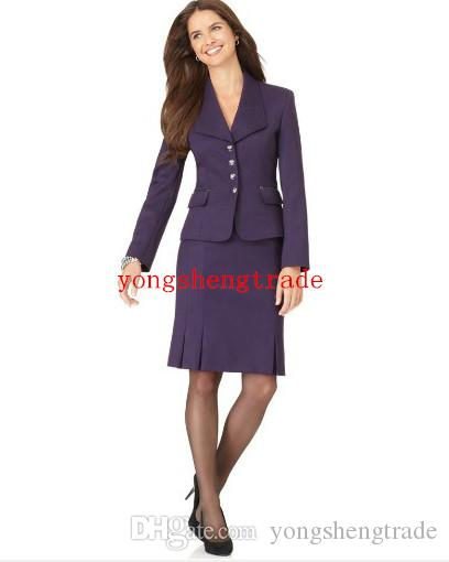 2017 Hot Selling Purple Women Business Suit Custom Made Lady Suit ...