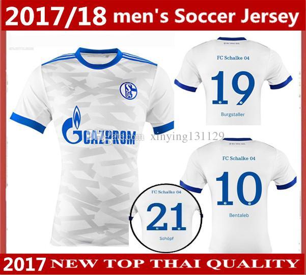 Best Thai Quality 2017 2018 Schalke 04 Soccer Jersey 17 18 Uchida Raul  Howedes Goretzka Bentaleb Schopf Away Jersey Football Uniforms Shirts Under  $13.57 ...