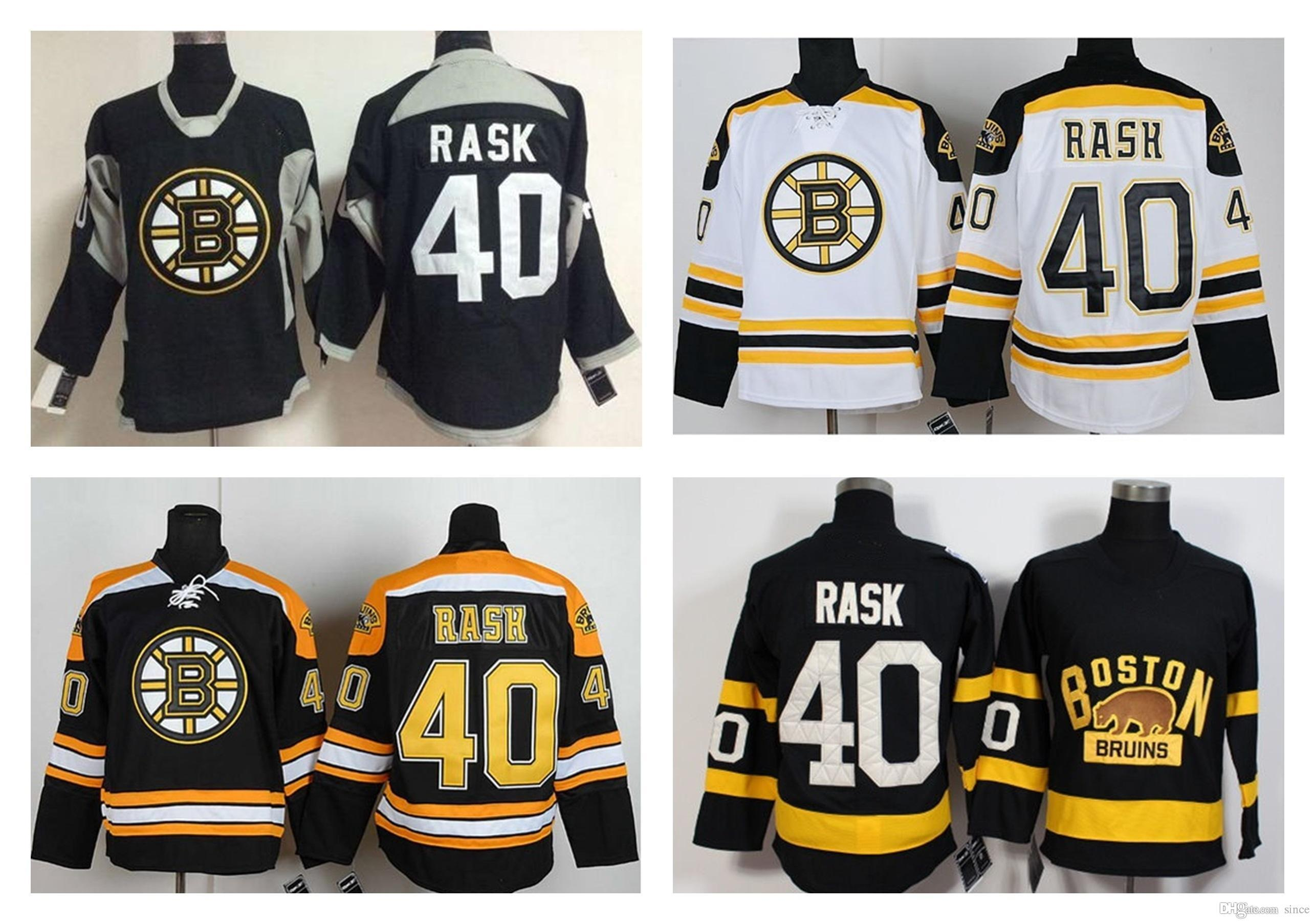 on sale 09147 c0b71 Mens 40 tuukka rask 2016 New cheap Boston Bruins jerseys authentic  swearsport T-shirt White Black Best quality embroidered Hockey Jerseys