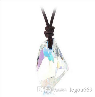 Europe and the United States Austrian crystal jewelry wholesale ax necklace rock stone wish stone return to the same section necklace
