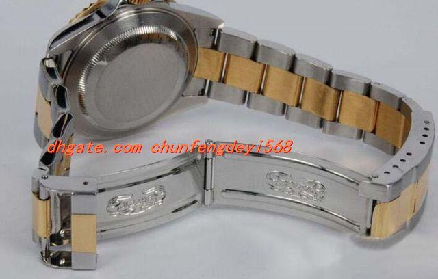 Mode montre-bracelet de luxe en or jaune 18 carats en acier inoxydable en céramique 116613 noir 40 mm automatique montre pour hommes montre pour hommes de qualité supérieure