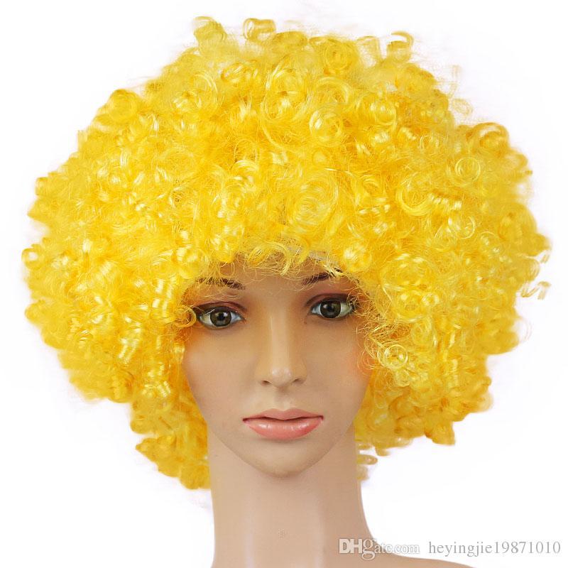 Xiu Zhi Mei 165g Best quality Wigs Men Afro Fans Wigs Bulkness Christmas Halloween Carnival Party Short Curly Cosplay Wig