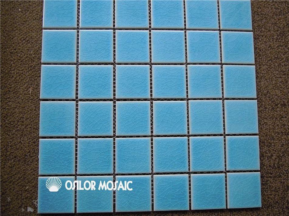 Acheter Carreaux De Mosaïque En Céramique Bleu Motif Fissuré Pour Salle De  Bain Et Cuisine Décoration Carrelage Mural Piscine Carrelage 48x48mm 4 ...