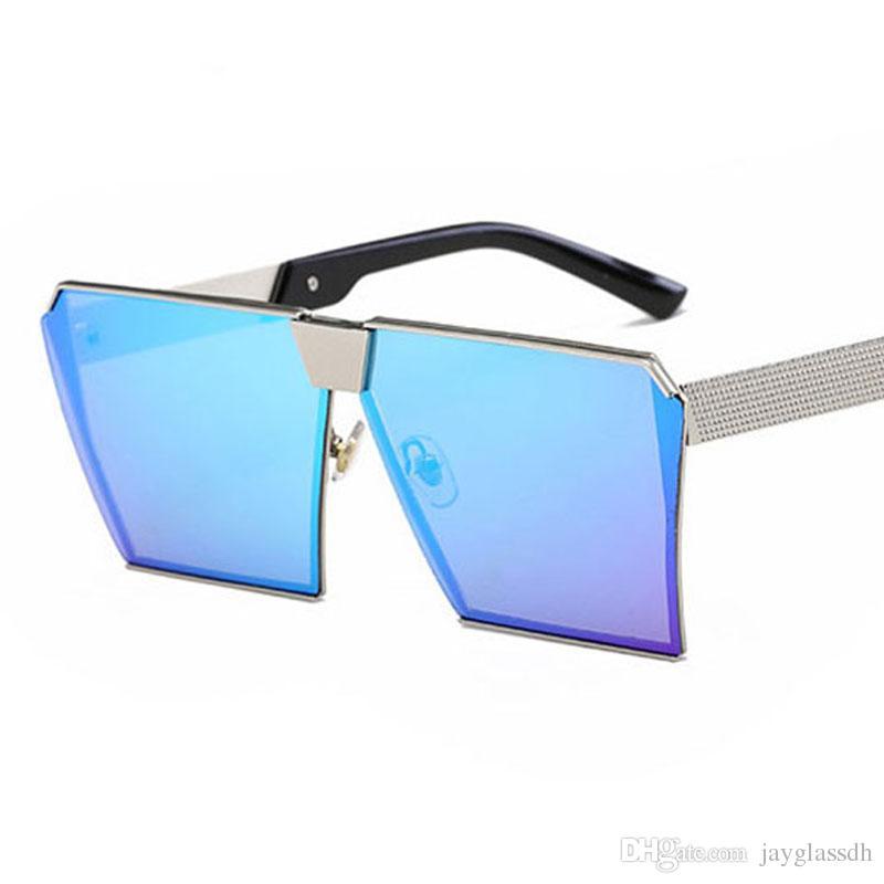 3e8f07088 Compre 2018 New Óculos De Sol Das Mulheres Dos Homens De Grandes Dimensões  Óculos Quadrados Uv400 Gradiente Do Vintage Marca Designer Óculos Armações  De ...