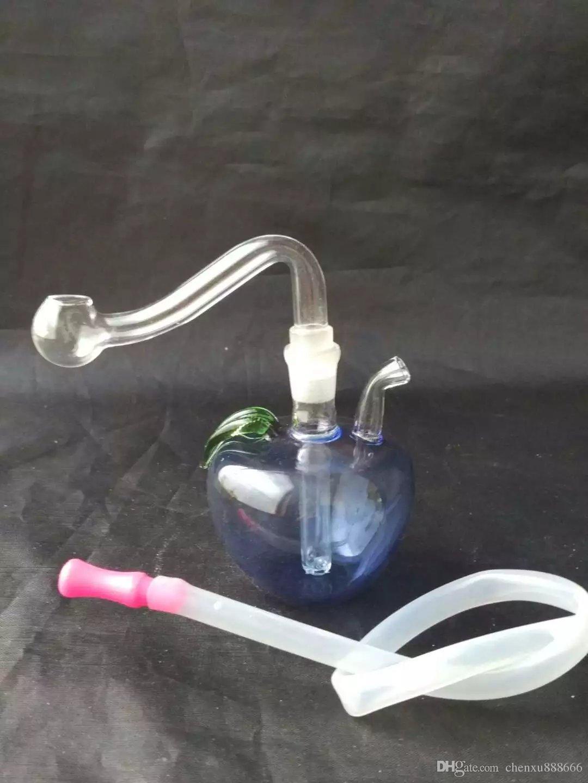 Аксессуары для маленьких вытяжек для яблок, стеклянные трубки для курения курительных трубок, перколятор стеклянные бонги, масляные горелки, водопроводные трубы