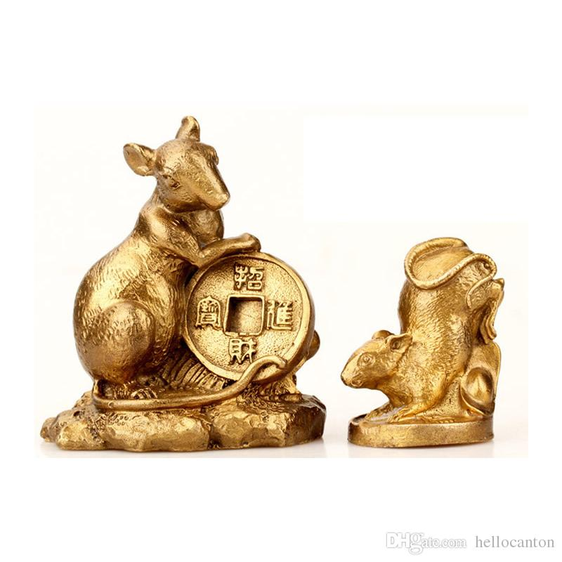 Lucky Feng Shui Rat Chinese Zodiac Animals Statues