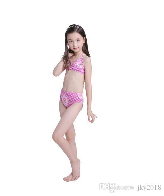 New Arrival Mermaid Swimming Bikini Set Baby Kids Summer Swimwear Mermaid Cosplay Costume Swimsuits Children Beach Swim Bath Clothing