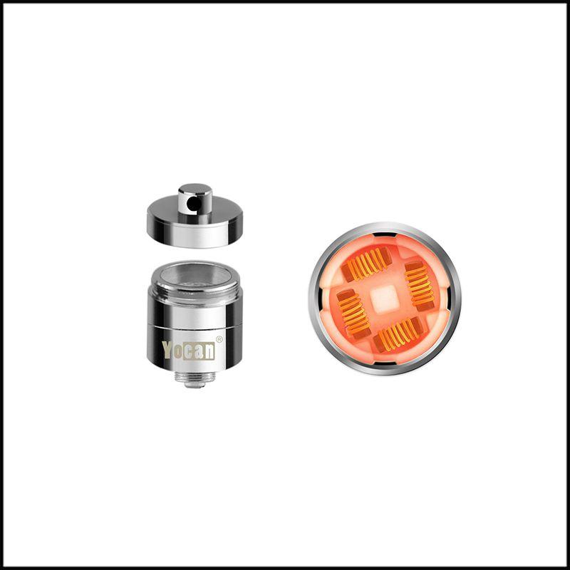 Auténtico Yocan Evolve Plus XL 1400mAh Wax Dab Pen Vaporizador Kit con Silicona Jar QUAD Bobina de cuarzo 100% Original