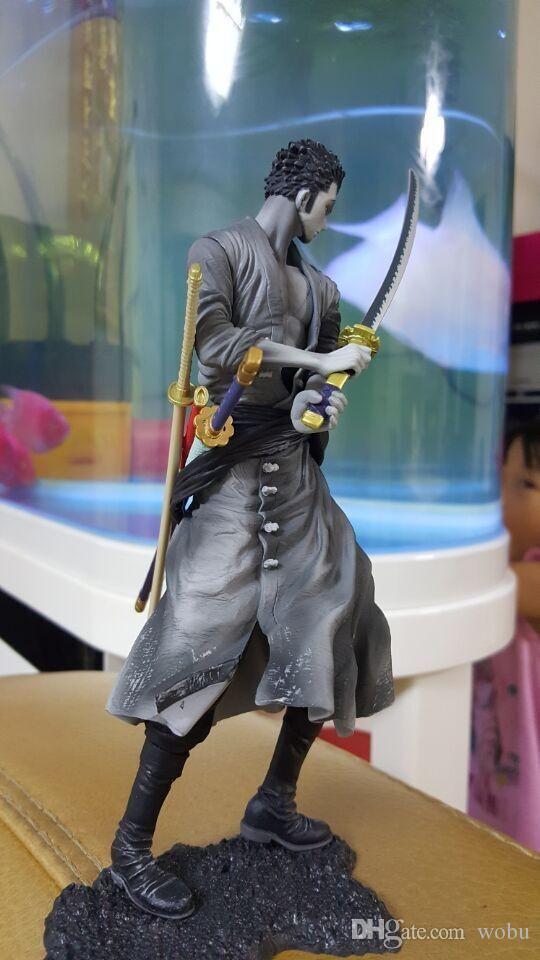 Figura de acción de una figura de anime Roronoa Zoro PVC Doll modelo de juguete 20 cm