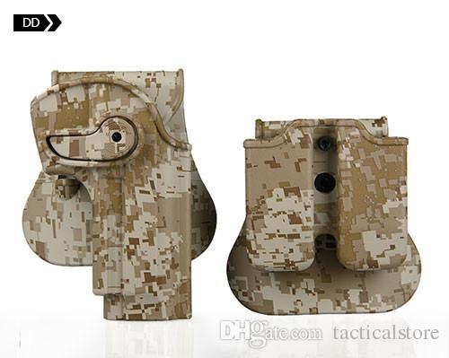 Étui tactique pour étui de pistolet airsoft M92 étui M95 chasse au camouflage camouflage