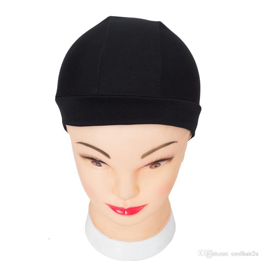 8 ADET Dokuma Kapaklar Spandex Dome Peruk Kap Peruk Yapmak için Siyah Örgü Kapak Görünmez Saç Net Naylon Streç Peruk Net Kap