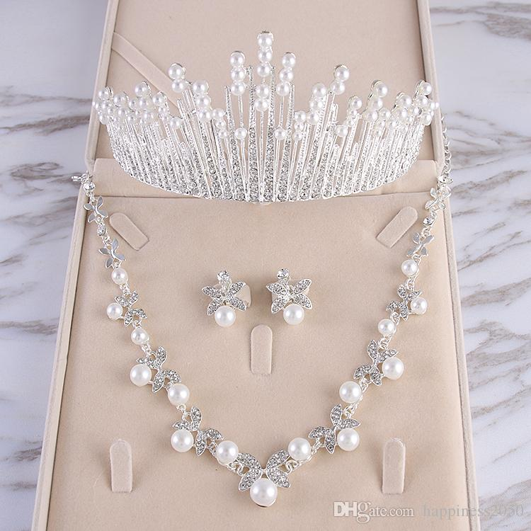 Beauty Silver Flower Bridal Necklace Earring Suits Jewelry Suits