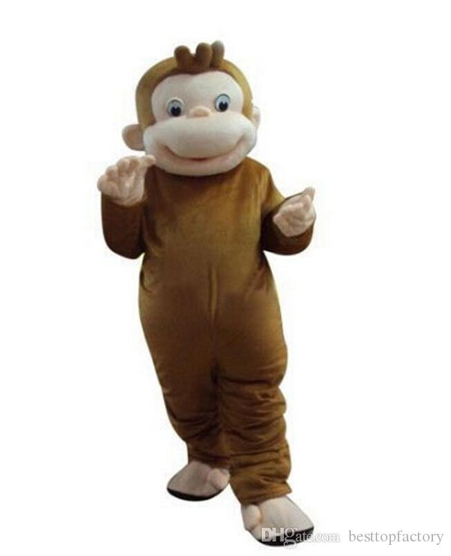 curious george monkey mascot costumes cartoon fancy dress halloween party costume adult size cat costume unique halloween costumes from besttopfactory